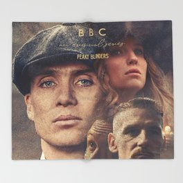 Peaky Blinders, Cillian Murphy, Thomas Shelby, BBC Tv series, Tom Hardy, Annabelle Wallis Throw Blanket