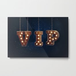 VIP - Very Important Person -  Wall-Art for Hotel-Rooms Metal Print