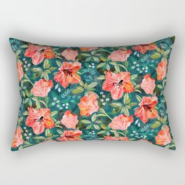 Vibrant Rhododendrons Rectangular Pillow