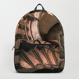 Spiral brown staircase Backpack