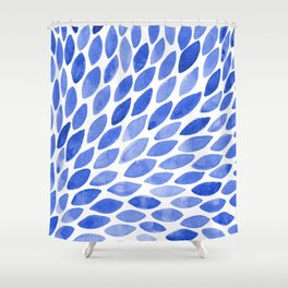 Watercolor brush strokes burst - electric blue Shower Curtain