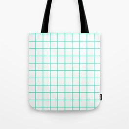 Green Grid Tote Bag