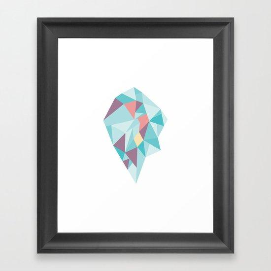 Facet vector II Framed Art Print