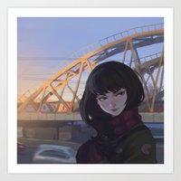 moscow Art Prints featuring Moscow by Ilya Kuvshinov