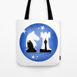 KNIGHT ROOK (Blue) Tote Bag