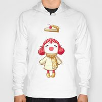 pie Hoodies featuring Cherry Pie by Freeminds