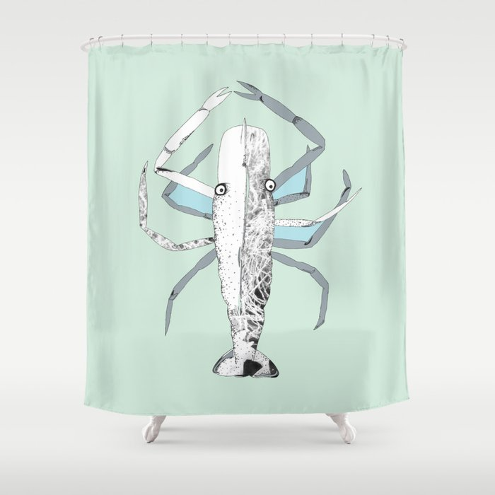 Lazy Lobster Shower Curtain By Eleanorsmith