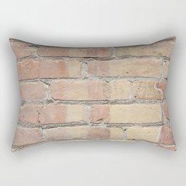 Brick wall in Fort MaCleod Rectangular Pillow
