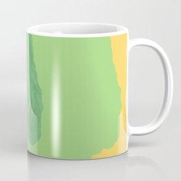 Walt Whitman portrait yellow green Coffee Mug