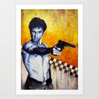 taxi driver Art Prints featuring Taxi Driver by The Notorious Gasoline Company