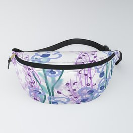 Waterlilies pink turquoise II Fanny Pack