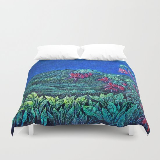 Landscape Ireland Etching By Catherine Coyle Duvet Cover
