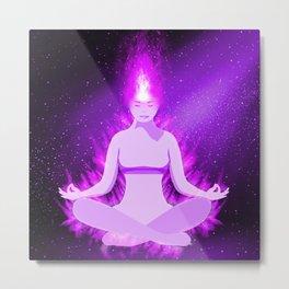 The Violet Flame Metal Print