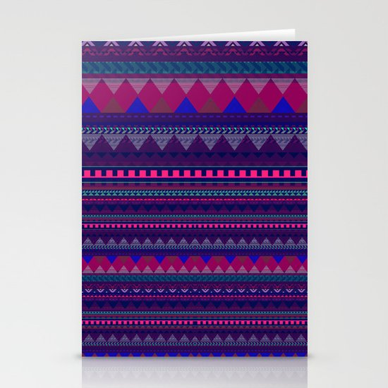 KNITTED AZTEC PATTERN  Stationery Cards
