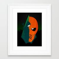 deathstroke Framed Art Prints featuring Arrows and Regrets by emodist