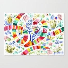 Dragon Deer Canvas Print