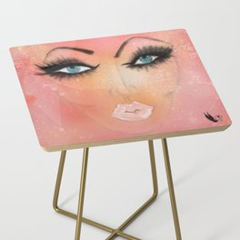 Just BE Healing Art Illustration Side Table