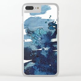 It's a windy day on the beach today. Clear iPhone Case