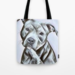 Pit Bull lover, a portrait of a beautiful pit bull puppy Tote Bag
