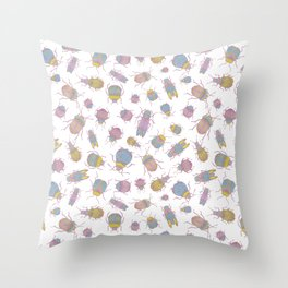 Candy Bugs Throw Pillow