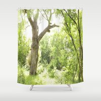 narnia Shower Curtains featuring NARNIA - The Forest  by Lord Elion