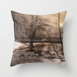Dream time winter landscape Throw Pillow