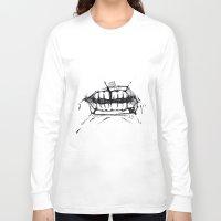 teeth Long Sleeve T-shirts featuring Teeth by Tanya_Vazh