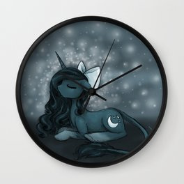 Sleepy Pony Wall Clock