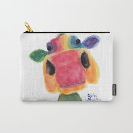 Nosey Cow ' BRIDGET ' by Shirley MacArthr Carry-All Pouch