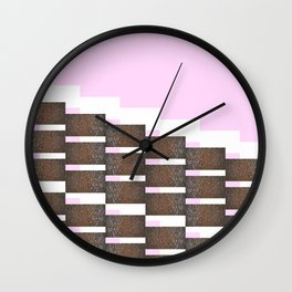 Linseed stairs Wall Clock