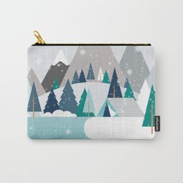 Camping - first snow fall Carry-All Pouch