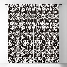 Pretty Confusion, Black and White Blackout Curtain