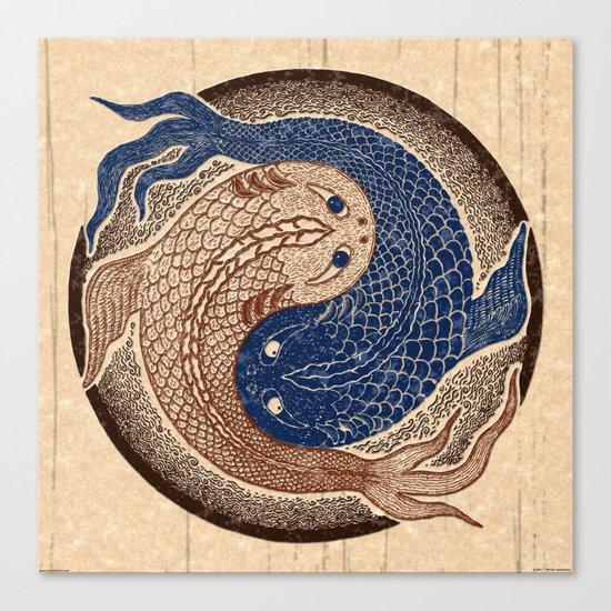 shuiwudáo yin yang mandala Canvas Print