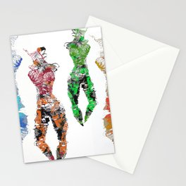 Bodies of fibre in colors Stationery Cards