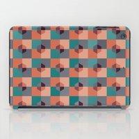 hexagon iPad Cases featuring Hexagon Pattern by Negin Khatoun