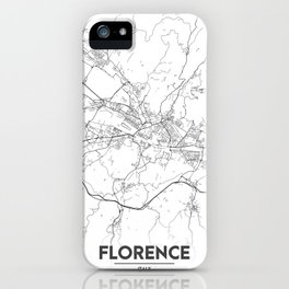 Minimal City Maps - Map Of Florence, Italy. iPhone Case