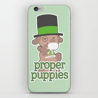 puppies iPhone & iPod Skins featuring Proper Puppies by Jillian Story (TalaSeba)