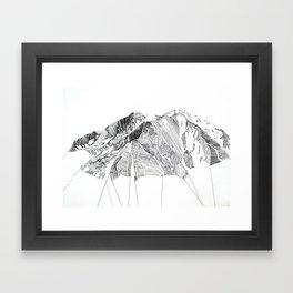 Mount Sopris Framed Art Print