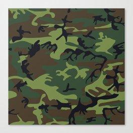 Woodland Camo pattern II Canvas Print