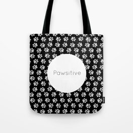 Pawsitive Paws - dog lover animals pattern Tote Bag