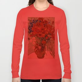 "Vincent van Gogh ""Still Life, Vase with Daisies, and Poppies"" Long Sleeve T-shirt"