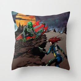 Spooktacularama! Throw Pillow