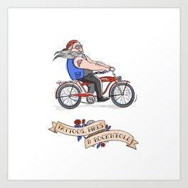 Tattoos, Bikes & Rock'n'roll Art Print