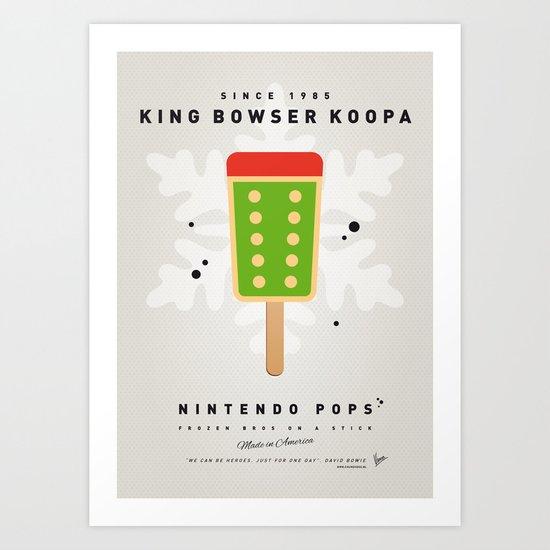 My NINTENDO ICE POP - King Bowser Art Print