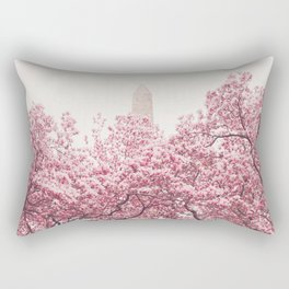 New York City - Central Park - Cherry Blossoms Rectangular Pillow