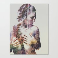 Canvas Prints featuring Wilderness Heart #3 by Andreas Lie