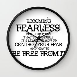 BECOMING FEARLESS - Divergent Wall Clock