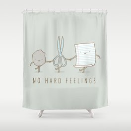 No Hard Feelings Shower Curtain