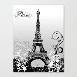Eiffel Tower Paris (B/W) Canvas Print