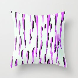 Dripped in Purple  Throw Pillow